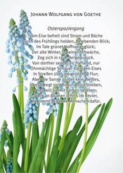 11868 Goethes Osterspaziergang - Idee und Realisation: Angelika Vogel