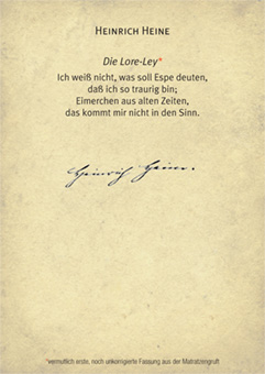 Heinrich Heine LoreLey